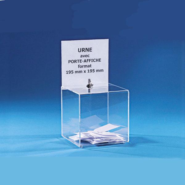 urne din plexiglas transparent sau semitrasparent